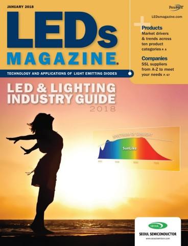 LEDs Magazineの表紙で紹介されたSunLike技術 (画像:ビジネスワイヤ)