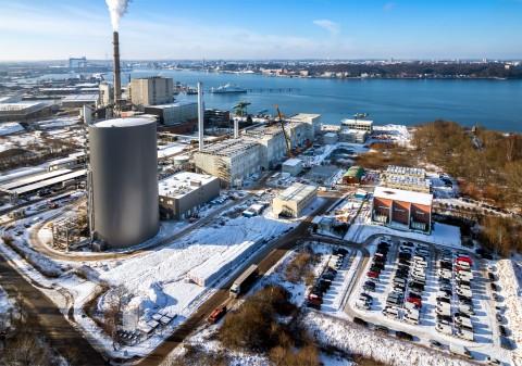 Construction site of the new K.I.E.L. coastal power plant.