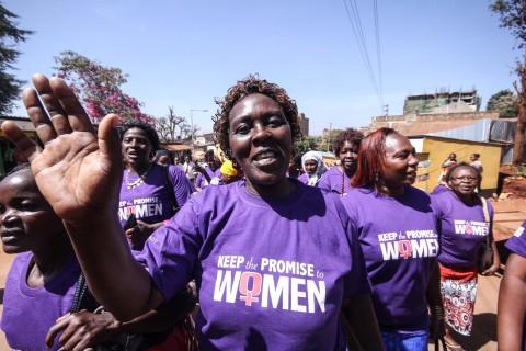 Women celebrate International Women's Day event. (Photo: Business Wire)