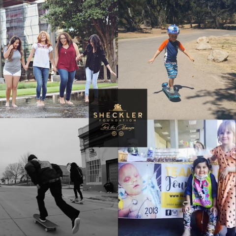 Left-to-right, Top-to-bottom: All Things Made New (ATMN), Safe Play-Space for Ryan, Skate for Change, Team Lilly Foundation (Graphic: Business Wire)