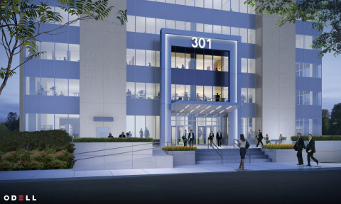Exterior rendering of The Fallon Company's 301 South McDowell Street property in Charlotte, which will acquire the name 301 MIDTOWN, as well as a myriad of internal and external enhancements. (Photo: Business Wire)