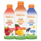 DAHlicious organic, grass-fed whole milk lassi India-style yogurt drinks.