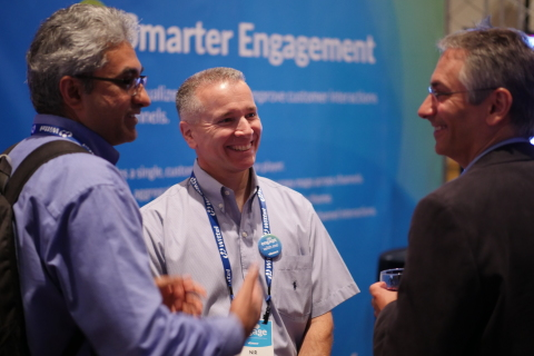 Verint's Engage 2017 attendees networking and sharing how they modernize customer engagement. (Photo ...