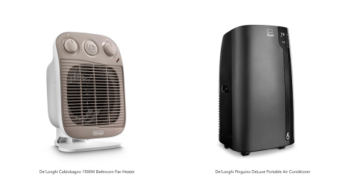 De'Longhi Expands Its Highly Successful Portable Cooling and Heating Portfolio with New Portable Air Conditioners and Bathroom Heaters (Photo: Business Wire)