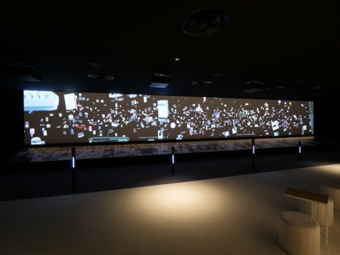 參觀者可透過「匠心製造展覽廳」內的最新科技瞭解松下產品的歷史(照片:美國商業資訊)