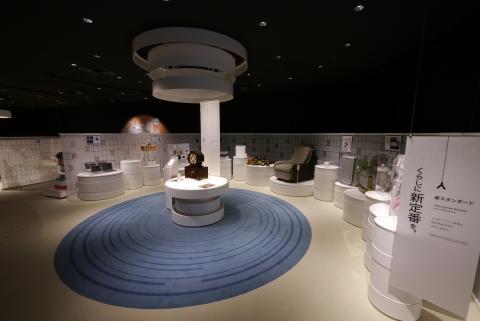 匠心製造展覽廳陳列松下在過去100年間提供的約150件家用電器(照片:美國商業資訊)