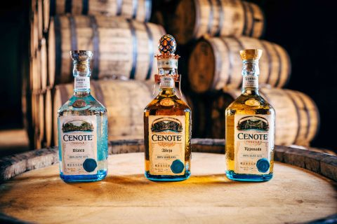 "Stoli Group today announced the introduction of Cenote Tequila. The super-premium ""tequila with a soul"" launches with blanco, añejo and reposado expressions (L-R). (Photo: Business Wire)"