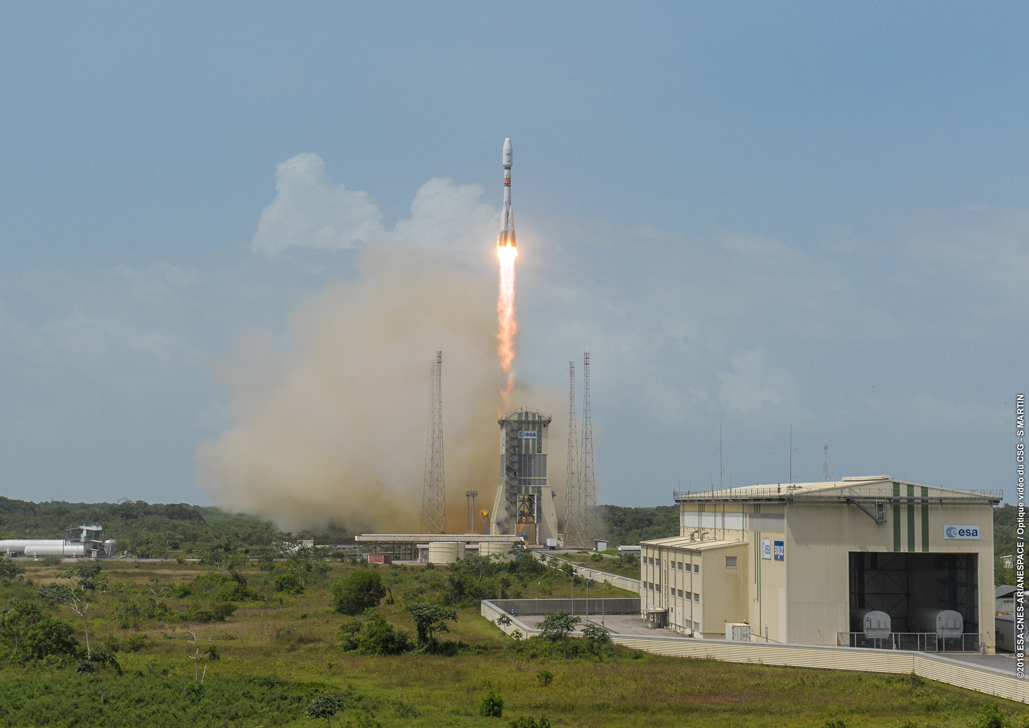 Arianespace Launches a Set of O3b MEO Satellites for SES