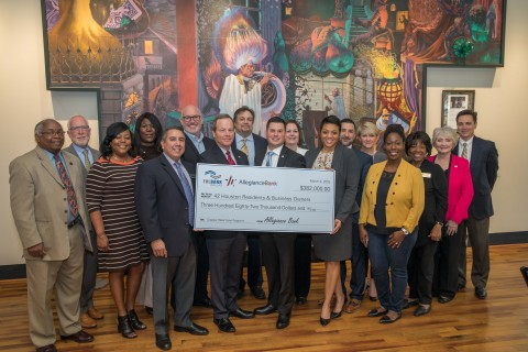 Allegiance Bank and FHLB Dallas awarded $382,000 to assist homeowners, businesses and community grou ...