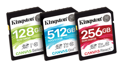 Canvas Flash cards will offer three different variations in both SD and microSD cards: Select, Go, a ...