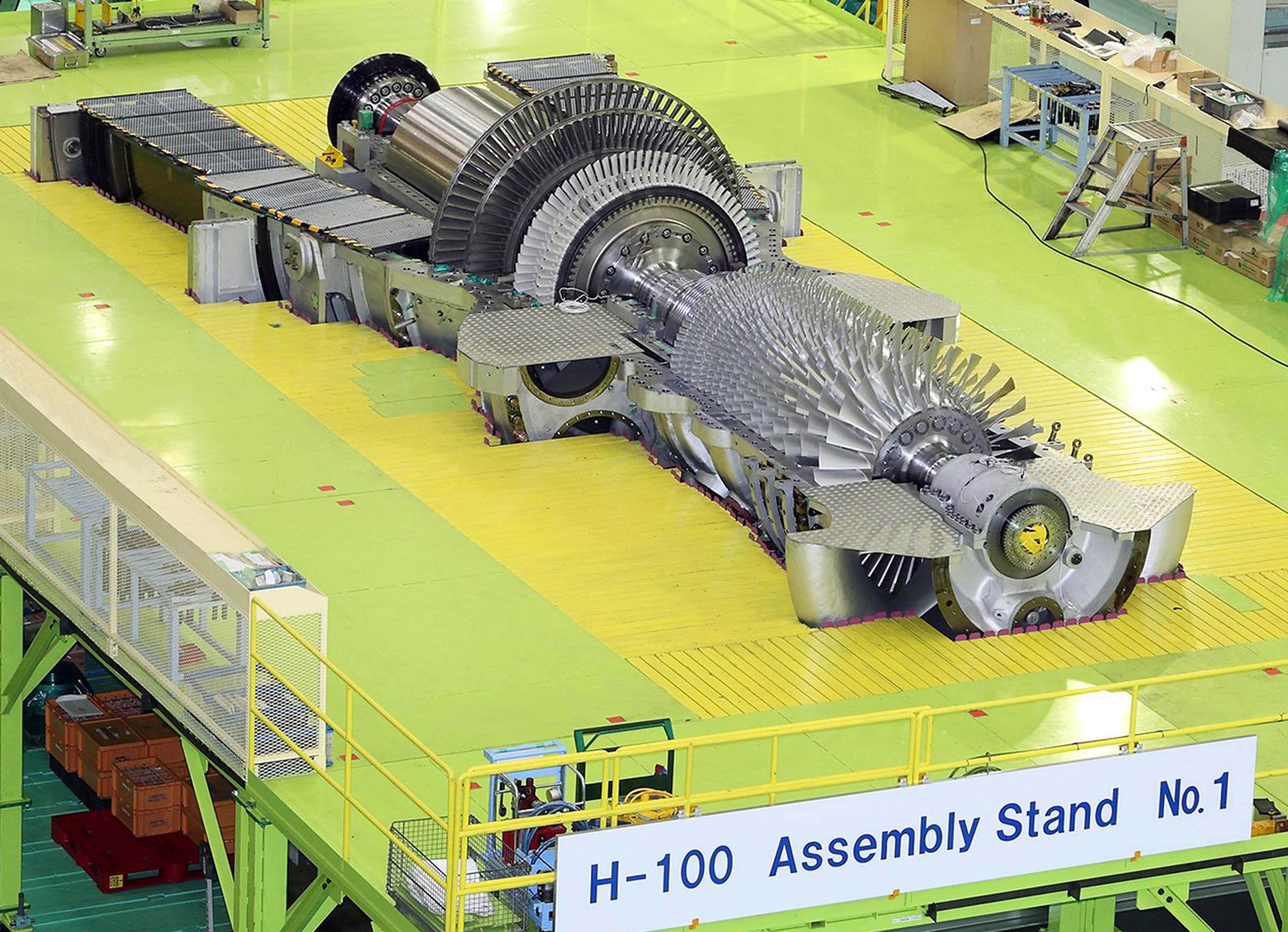 mitsubishi heavy h 100 gas turbine low nox combustion system
