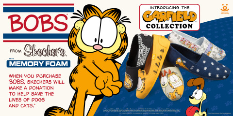 BOBS from Skechers launches Garfield footwear collection. (Graphic: Business Wire)