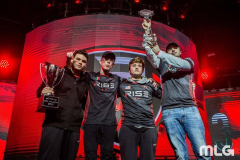 "CWL Atlanta Open Champion Rise Nation (Anthony ""Methodz"" Zinni, Daniel ""Loony"" Loza, Thomas ""TJHaLy"" ..."