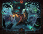 Something spooky is stirring at the heart of The Witchwood™, the next expansion for Hearthstone®, Blizzard Entertainment's smash-hit digital card game. (Graphic: Business Wire)