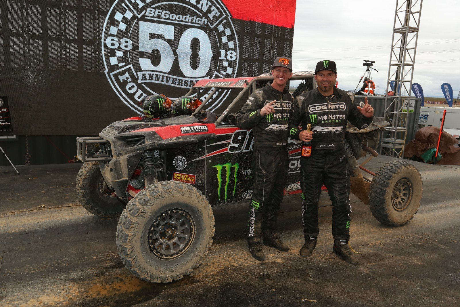 Polaris Rzr Factory Racing Continues 2018 Success With Victories In All Three Utv Cles At The 50th Anniversary Mint 400 Business Wire