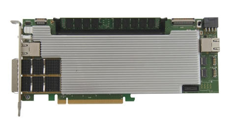 XpressGXS10-FH200G board, dedicated to Cloud Computing and Finance markets (Photo: REFLEX CES)