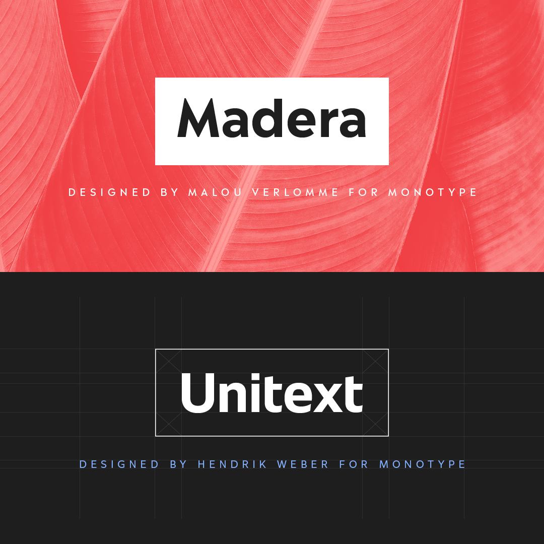 Meet Monotype's New Modern Branding Typefaces: Madera and