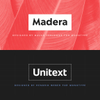 Inspired by design trends and feedback from hundreds of brands, the Madera and Unitext typefaces offer a mix of modern design and timeless appeal (Graphic: Business Wire)