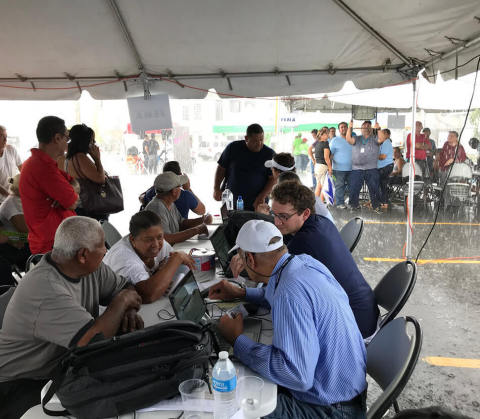 Kymeta, along with partners Intelsat and Liberty Puerto Rico, traveled to 33 communities across Puerto Rico in the aftermath of Hurricane Maria, providing 22,266 internet sessions and 813.44GB data usage to impacted residents. (Photo: Business Wire)