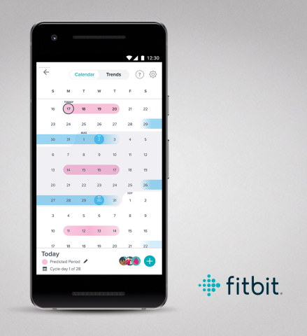 Fitbit launches female health tracking to help women track their menstrual cycle, view holistic health data in one place, and better understand connections to their overall health (Photo: Business Wire)