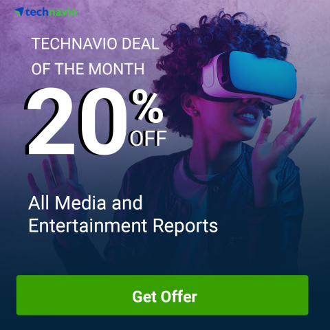 Technavio has announced 20% discount on all their media and entertainment reports, covering segments such as consumer electronics, gaming, Internet and e-commerce, and many more. (Graphic: Business Wire)
