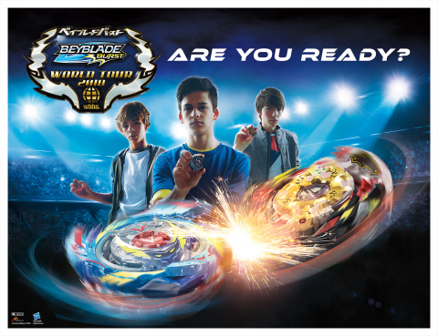Hasbro teams up with SUNRIGHTS INC., d-rights Inc. and TOMY Company, Ltd. on a quest to find the greatest BEYBLADE BURST Bladers from around the world at the BEYBLADE BURST World Championship held at Kidexpo in Paris, France on November 3, 2018. (Photo: Business Wire)