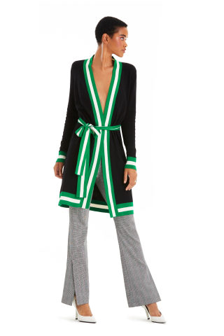 Macy's channels the brilliance of spring with fresh fashion to update and elevate your wardrobe. I.N.C. International Concepts cardigan, $99.50, and trousers, $69.50, created for Macy's. (Photo: Business Wire)