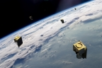 BlackSky's constellation of high-revisit smallsats (Photo: Business Wire)