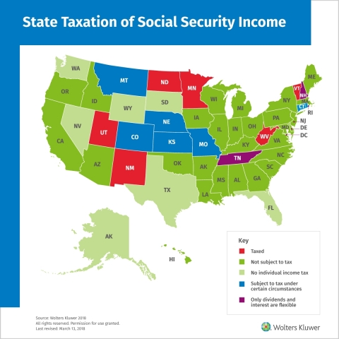 State Taxation of Social Security Income (Graphic: Business Wire)
