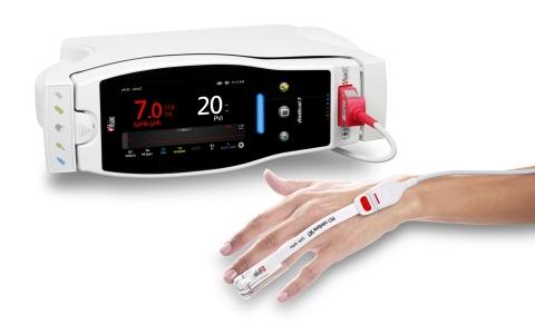 Masimo Radical-7® with SpHb®, PVi®, and RD rainbow SET™ Sensor (Photo: Business Wire)