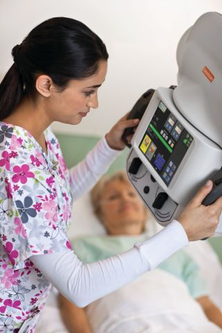 Carestream DRX-Revolution Mobile X-ray Systems capture portable exams in UC Irvine Medical Center's ER, trauma center, NICU and ICU as well as conducting inpatient exams. (Photo: Business Wire)