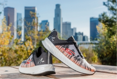 The limited edition, Skechers GO Run Forza 3, designed for the 2018 Skechers Performance Los Angeles Marathon. (Photo: Business Wire)