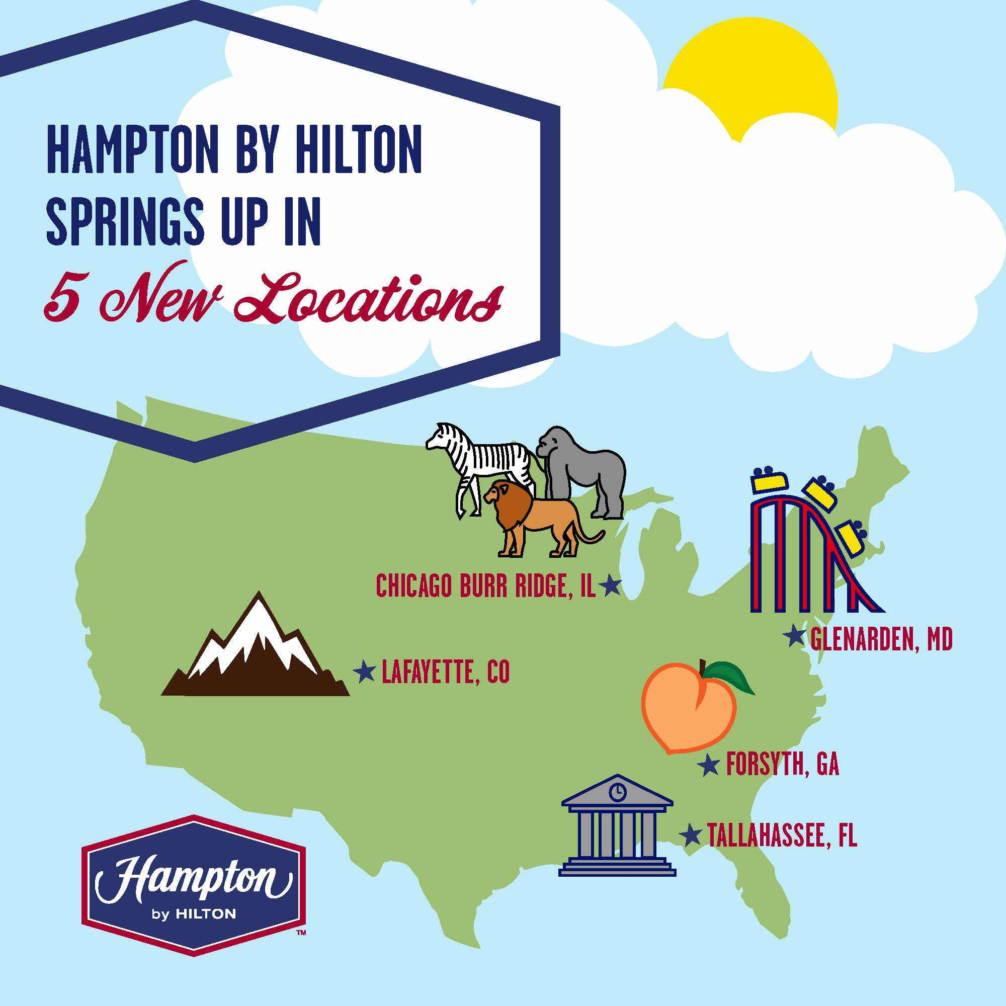 Spring Travel Season Ready Hampton By Hilton Adds Five Hotels To Portfolio