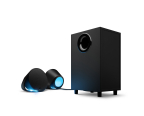 The Logitech G560 PC Gaming Speaker is first dedicated gaming speaker system with advanced Logitech G LIGHTSYNC™, a technology that synchronizes both light and sounds to gameplay, music and video content. (Photo: Business Wire)