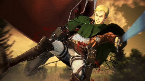 Experience the immense anime story alongside Eren and his companions as they fight to save humanity from the threat of the deadly human-devouring Titans. The Attack on Titan 2 game will be available on March 20. (Graphic: Business Wire)