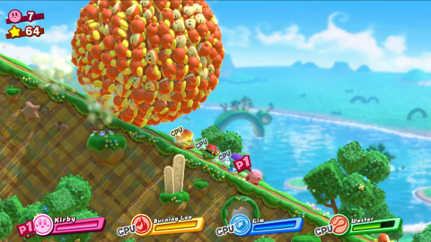 By making friends out of Kirby's foes, up to three players can drop in or out of the adventure at any time. With new and expanded copy abilities, classic Kirby action is deeper than ever. Combine abilities with elements such as ice or fire to create new friend abilities. The Kirby Star Allies game will be available on March 16. (Graphic: Business Wire)