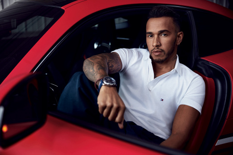 Lewis Hamilton featured in the TOMMY HILFIGER Spring 2018 Advertising Campaign as the new men's global brand ambassador. Photographed by Mikael Jansson.