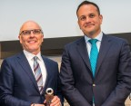An Taoiseach Leo Varadkar presenting Science Foundation Ireland's (SFI) prestigious 'St. Patrick's Day Science Medal' to David McCourt, Founder and CEO of Granahan McCourt Capital (Photo: Business Wire)