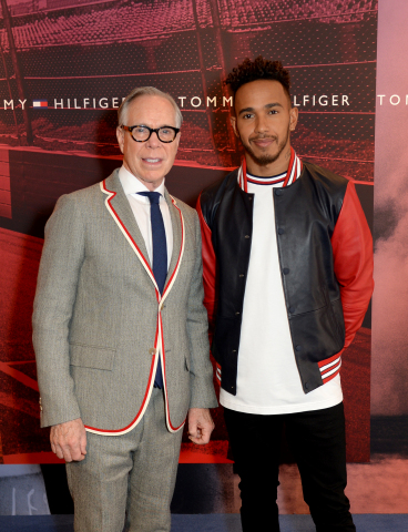 Tommy Hilfiger and Lewis Hamilton.