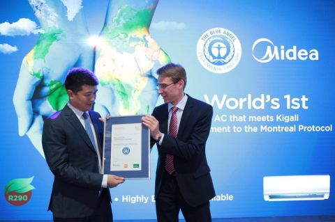 The Blue Angel Certification awarding ceremony. (Photo: Business Wire)