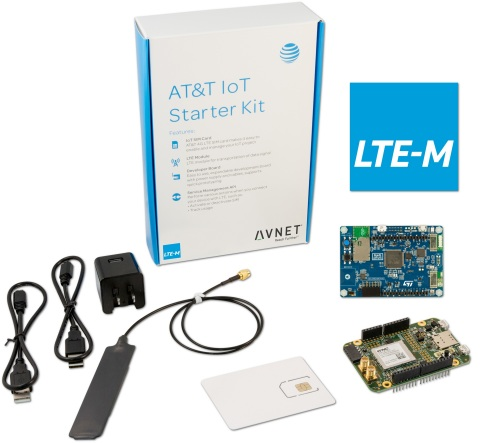 New AT&T IoT Starter Kit (LTE-M, STM32L4) from Avnet, the latest in a series of AT&T IoT Starter Kits engineered by Avnet in collaboration with AT&T. (Photo: Business Wire)