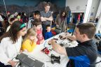 Kids get hands-on with connected cars at last year's STEM Symposium (Photo: Business Wire)