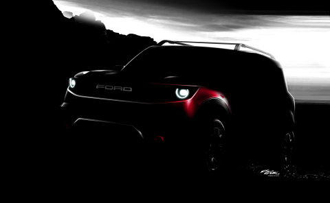 Ford plans to drive SUV growth with two all-new off-road models: the new Bronco and a yet-to-be-named off-road small utility (pictured) – both designed to win a growing number of people who love getting away and spending time outdoors with their families and friends. (Photo: Business Wire)