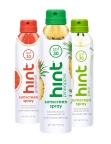 hint® sunscreen comes in three refreshing scents: pineapple, grapefruit and pear (Photo: Business Wire)