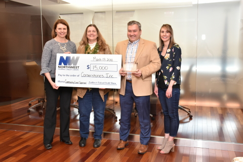 Caroline Toye and Susan Alger of Cornerstones, Jeff Bentley, and Janelle Kolstad, Champion of Northwest Federal's Health and Wellness Committee (Photo: Business Wire)