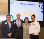 Jeff Bentley, Mark Ingrao of the Greater Reston Chamber of Commerce, Kerrie Wilson of Cornerstones, and Alexzandra Shade, Executive Director of the NWFCU Foundation (Photo: Business Wire)