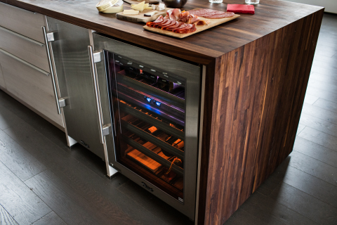 Delicious food deserves to be paired with delicious wine, which is why Wylie opts to meticulously preserve his best bottles with True's Dual Zone wine storage system. (Photo: Business Wire)