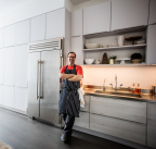 """Clean, modern, and inspired by the artistry and work ethic of the best professional chefs, True's 42"""" refrigerator was a must-have for Wylie's new kitchen. (Photo: Business Wire)"""