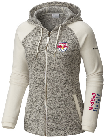 Columbia's women's hoodie featuring MLS team New York Red Bulls (Photo: Business Wire)