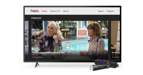 hayu on Roku streaming players (Photo: Business Wire)